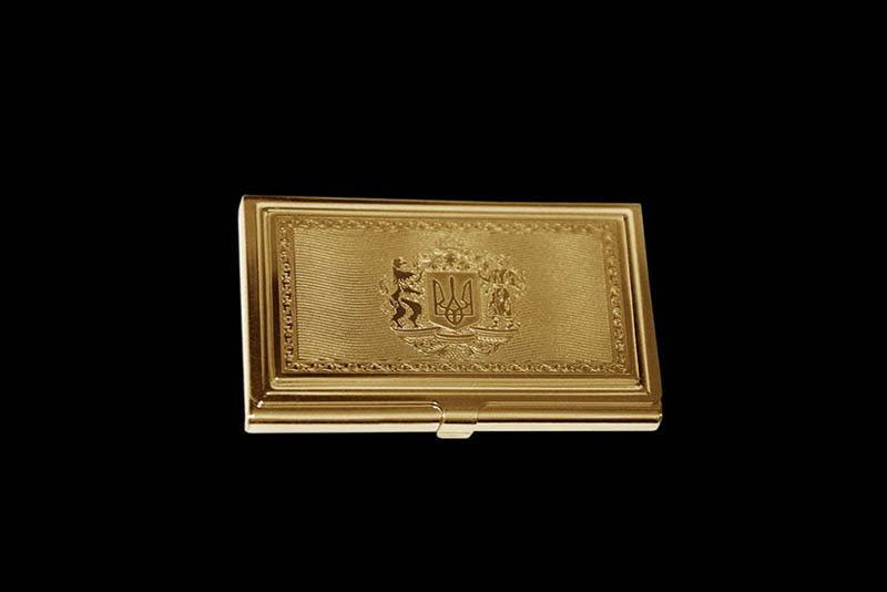 Platinum gold vip cards with genuine leather card holders gold card holder with a large emblem of ukraine or any other countries in individual orders golden credit card cases business card holders colourmoves
